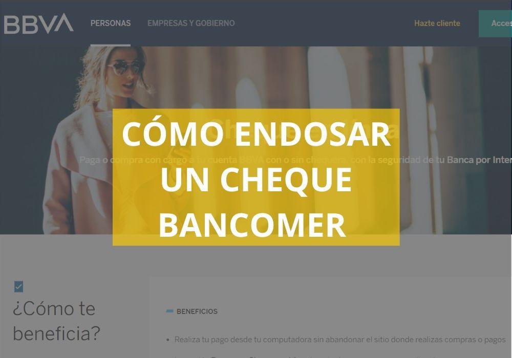 Cómo endosar un cheque Bancomer