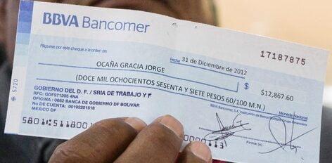 Cómo se llena un cheque de Bancomer