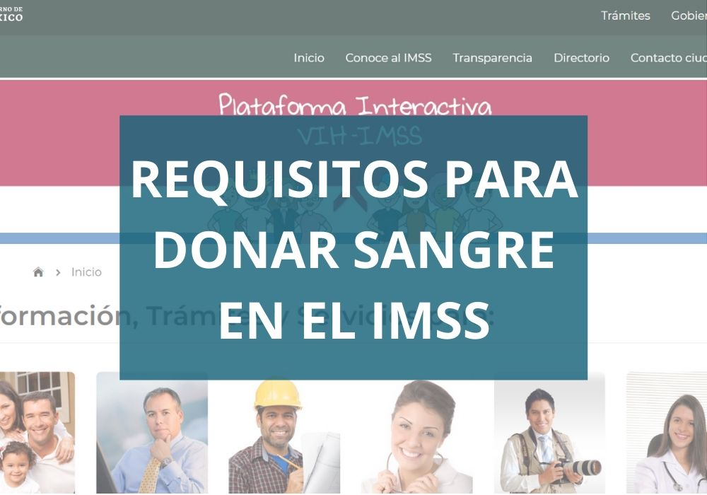 Requisitos para donar sangre IMSS