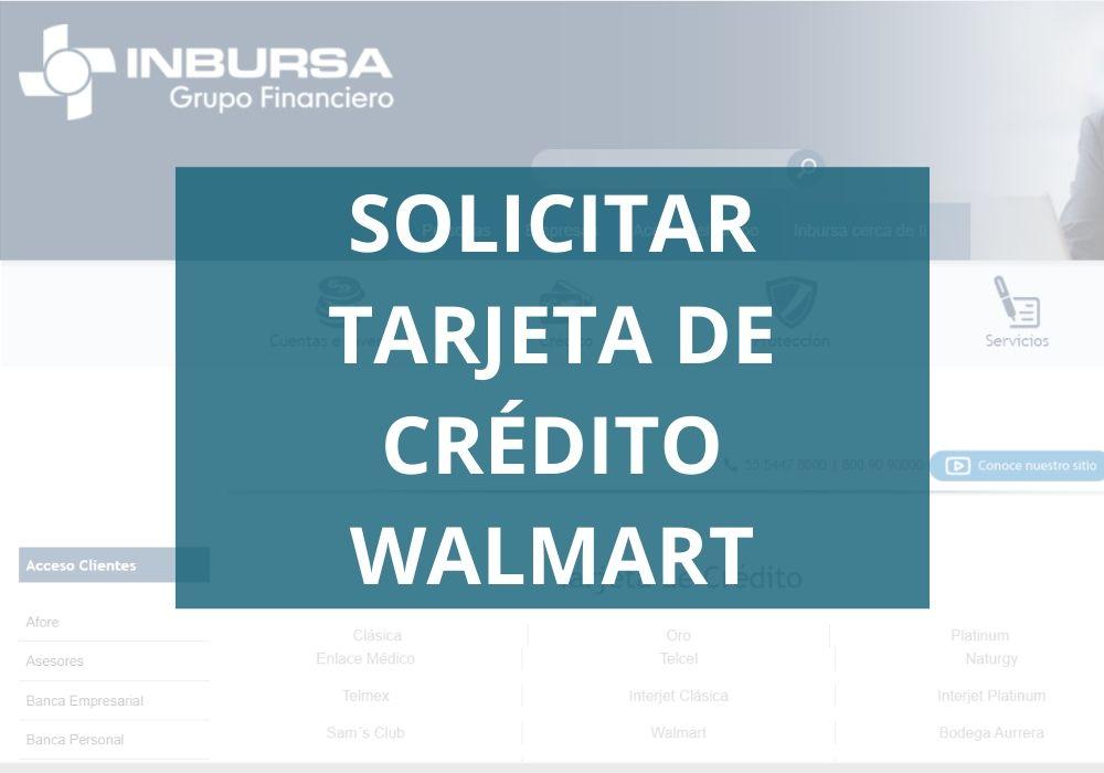 Solicitar tarjeta de crédito Walmart