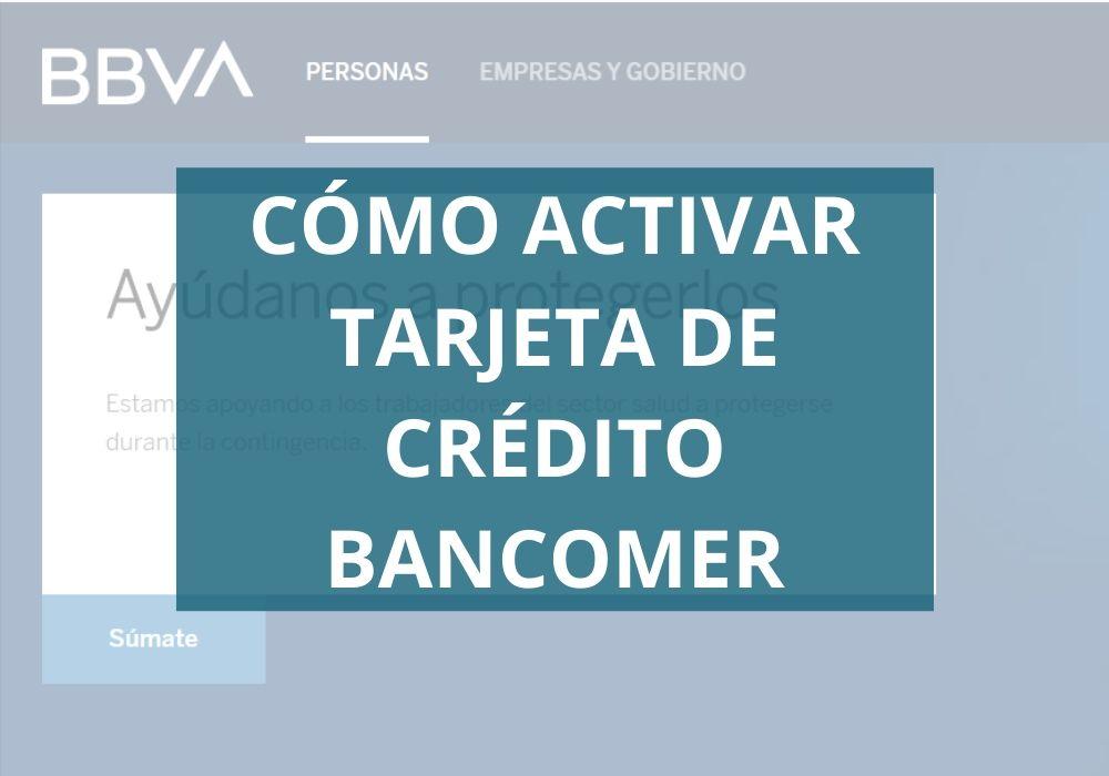 activar tarjeta de crédito Bancomer