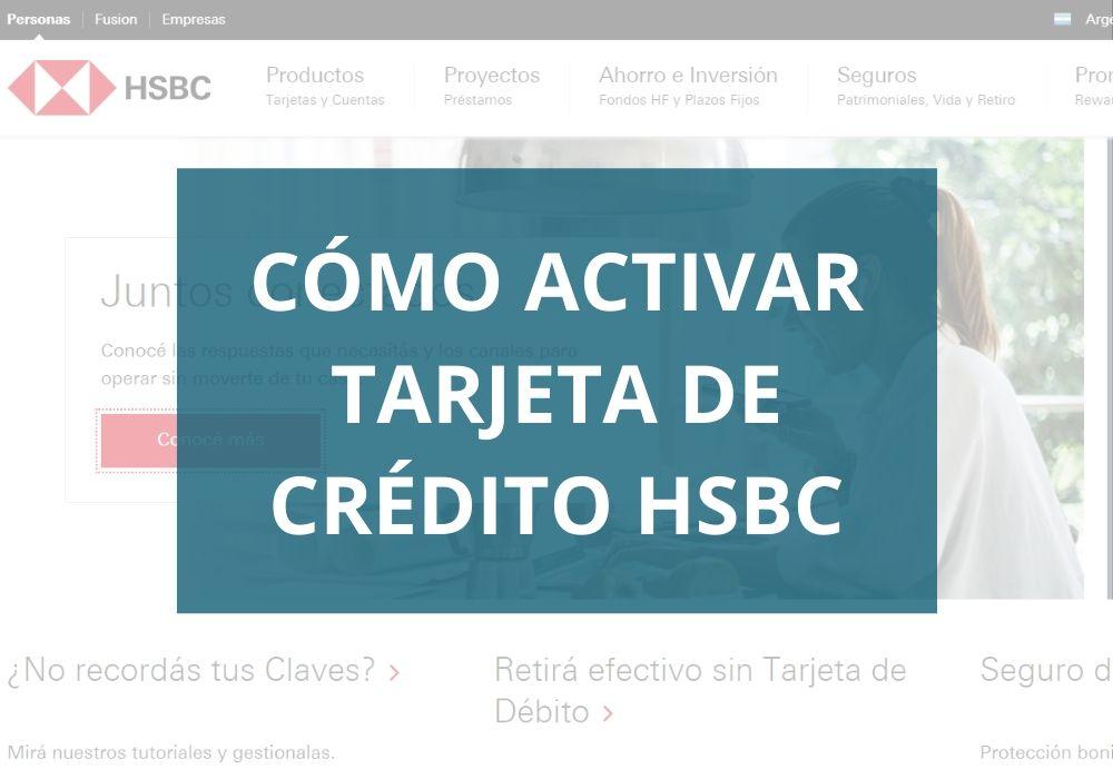 Activar tarjeta de crédito HSBC