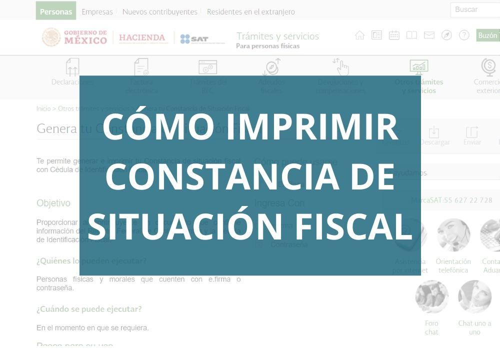 Cómo imprimir constancia de situación fiscal