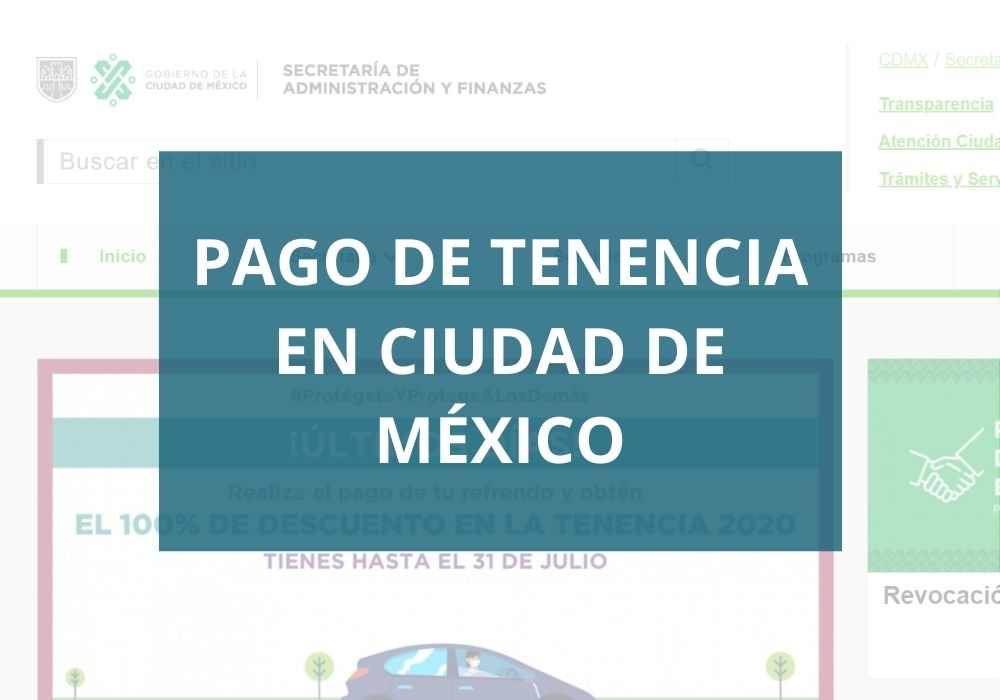 Pago de tenencia ciudad de México