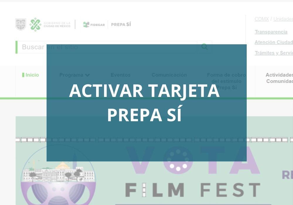 www.prepasi.df.gob.mx activar tarjeta