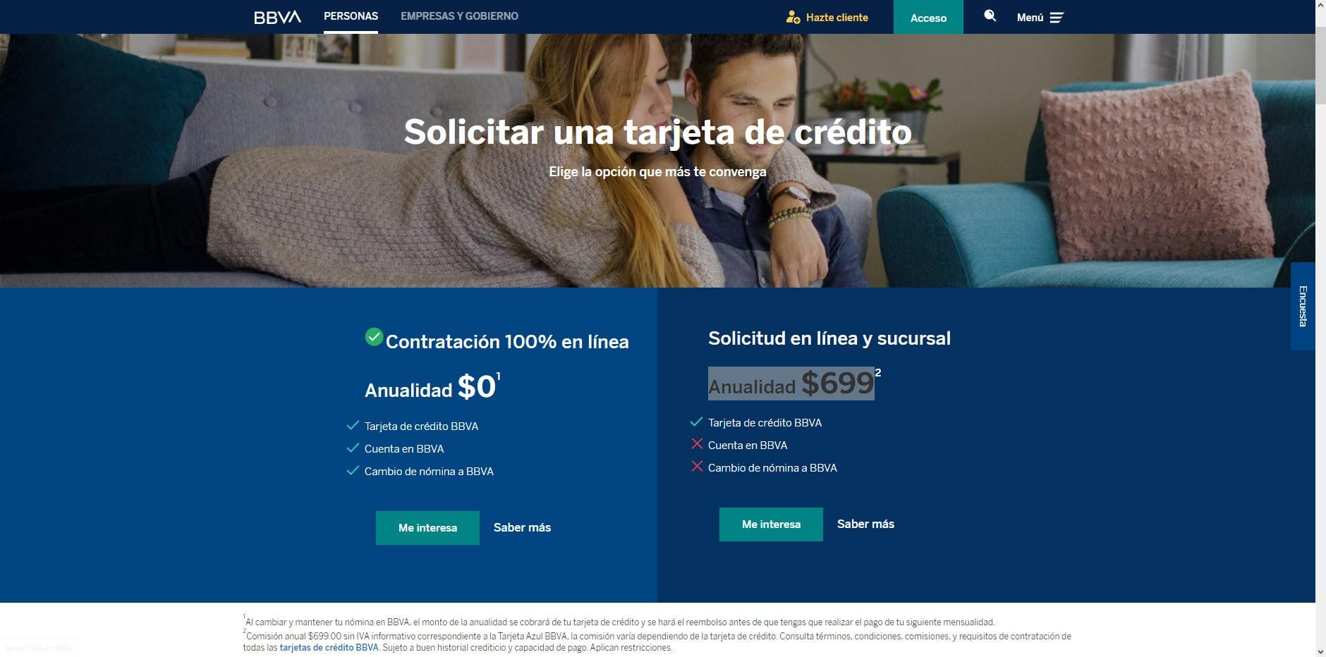 Cómo solicitar tarjeta de crédito Bancomer