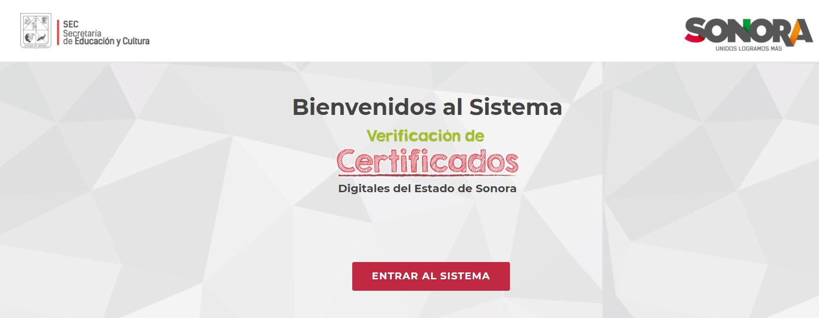 Certificado de secundaria Sonora